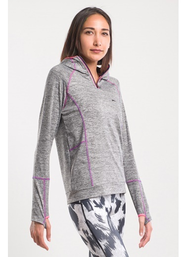 Slazenger Slazenger PACKET Kadın Sweatshirt Antrasit Antrasit